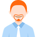 Man, user, profile, people, Business, Avatar PowderBlue icon