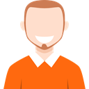 user, Business, Avatar, Man, profile, people DarkOrange icon