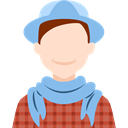 people, user, Business, profile, Avatar, Man SkyBlue icon