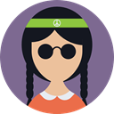 Girl, Business, hippie, profile, people, Avatar, user, woman SlateGray icon