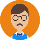 user, people, profile, Man, Business, Avatar DarkOrange icon