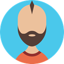 Business, people, Avatar, profile, Man, user MediumTurquoise icon