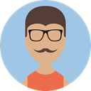user, people, Business, profile, Man, Avatar LightSteelBlue icon