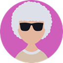 user, Elderly, Business, profile, woman, people, Avatar MediumOrchid icon