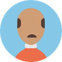 profile, people, user, Man, Avatar, Business SkyBlue icon
