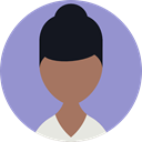 Avatar, woman, profile, Business, people, user MediumPurple icon