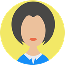 Avatar, profile, Business, people, user, woman Khaki icon