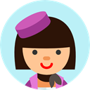 Occupation, people, Business, profile, Avatar, user, Stewardess PaleTurquoise icon