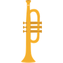 Wind Instrument, jazz, music, Trumpet, musical instrument, Orchestra Black icon