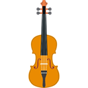 Violin, musical instrument, String Instrument, music, Orchestra Black icon
