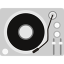 music player, music, turntable, lp, technology, vinyl, Record Player LightGray icon