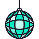 Mirror Ball, disco, Disco Ball, Dance, party, Club Black icon