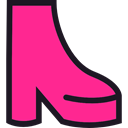fashion, footwear, dancer, High Heels, shoe, disco DeepPink icon