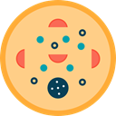 food, slice, dough, piece, Italian Food, Pizza Khaki icon