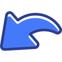 Orientation, previous, Arrows, Back, Multimedia Option, interface, directional RoyalBlue icon