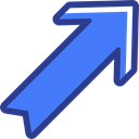 Arrows, interface, Diagonal Arrow, directional, Multimedia Option, Orientation RoyalBlue icon