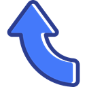 interface, Orientation, Multimedia Option, up arrow, Arrows, directional RoyalBlue icon