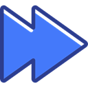 Arrows, interface, Fast forward, Multimedia Option, directional, Orientation RoyalBlue icon