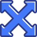Arrows, Orientation, directional, interface, full screen, expand, Multimedia Option RoyalBlue icon