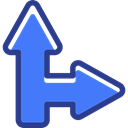 directional, Multimedia Option, Orientation, Arrows, interface RoyalBlue icon