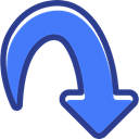 directional, down arrow, Multimedia Option, Arrows, Orientation, interface RoyalBlue icon