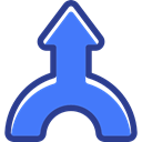 directional, up arrow, Multimedia Option, interface, Arrows, Orientation RoyalBlue icon