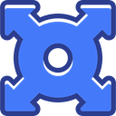 directional, Arrows, expand, Orientation, interface, Multimedia Option RoyalBlue icon