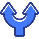 interface, directional, Orientation, up arrow, Multimedia Option, Arrows RoyalBlue icon