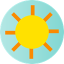 nature, summer, Summertime, meteorology, Sunny, warm, weather, sun Gold icon
