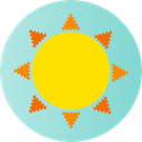 weather, summer, sun, warm, Sunny, meteorology, nature, Summertime Gold icon