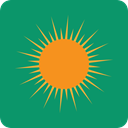 meteorology, weather, nature, Sunny, sun, Summertime, summer, warm Teal icon
