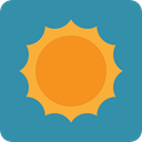 sun, warm, summer, weather, Sunny, Summertime, nature, meteorology SteelBlue icon