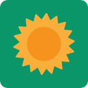 nature, meteorology, warm, summer, sun, Sunny, weather, Summertime Teal icon