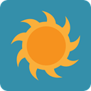 nature, Summertime, warm, meteorology, Sunny, sun, summer, weather SteelBlue icon