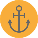 sailing, Anchor, tattoo, Tools And Utensils, Anchors, sail, navy SandyBrown icon