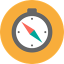 compass, Cardinal Points, Tools And Utensils, location, Orientation, Direction SandyBrown icon