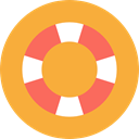 Floating, help, security, Tools And Utensils, lifebuoy, lifeguard, Lifesaver, Float SandyBrown icon