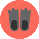 Dive, fashion, Diving, fins, sports, swimming, flippers Tomato icon