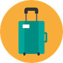luggage, Tools And Utensils, suitcase, baggage, travelling SandyBrown icon
