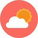 Cloud, Atmospheric, Clouds, sky, Cloudy, Cloud computing, weather Tomato icon