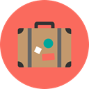 suitcase, baggage, Tools And Utensils, travelling, luggage Tomato icon