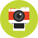photograph, digital, photo camera, technology, picture YellowGreen icon