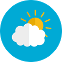sky, Cloudy, Cloud computing, Atmospheric, Cloud, Clouds, weather DarkTurquoise icon