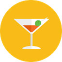 Alcohol, drinking, leisure, cocktail, food, straw, Alcoholic Drinks, party Orange icon