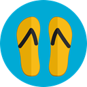 sandals, Summertime, Flip flop, footwear, flip flops, fashion DarkTurquoise icon