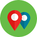 pin, map pointer, placeholder, signs, location, Map Point, Map Location YellowGreen icon