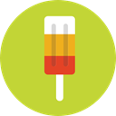 popsicle, food, Summertime, Dessert, sweet YellowGreen icon