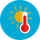Degrees, Fahrenheit, Mercury, temperature, Tools And Utensils, thermometer, Celsius DarkTurquoise icon