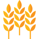 leaves, food, branch, Wheat, nature, Barley Black icon