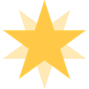 star, galaxy, shapes, universe, Favorite, space SandyBrown icon